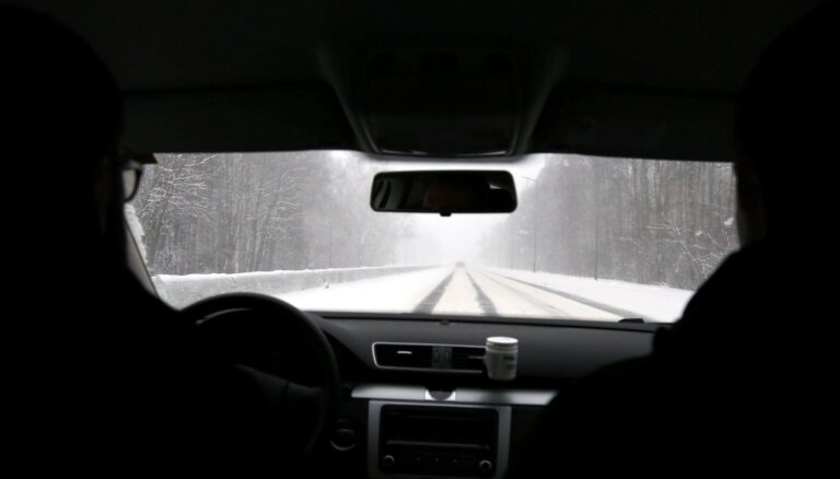 На востоке Латвии выпало до 5 см снега