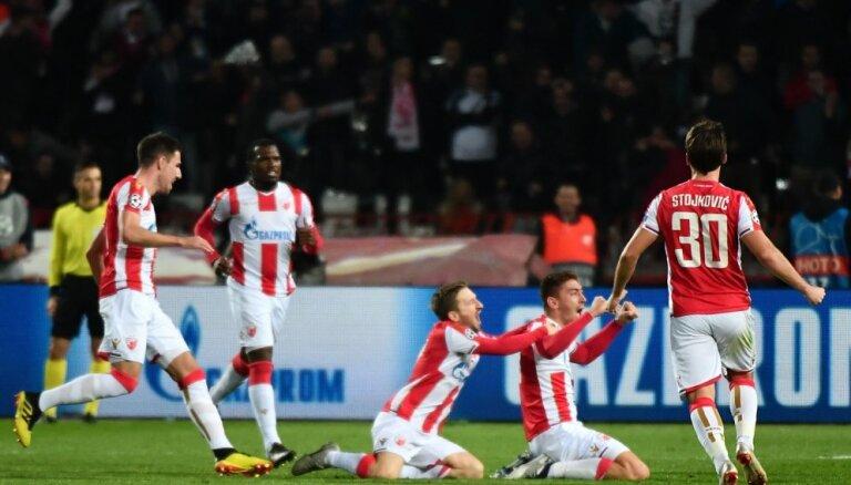 'Crvena Zvezda' futbolisti Čempionu līgas mačā šokē 'Liverpool'