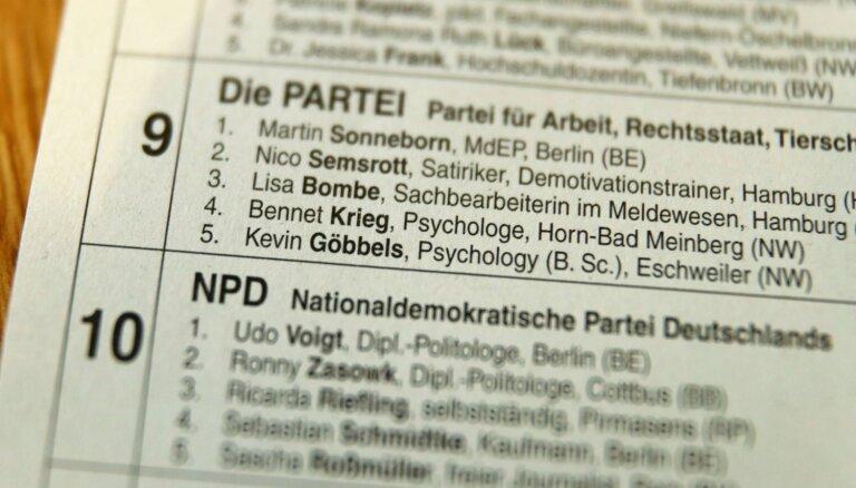 Vācu partija EP vēlēšanu sarakstā iekļauj nacistu režīma uzvārdus