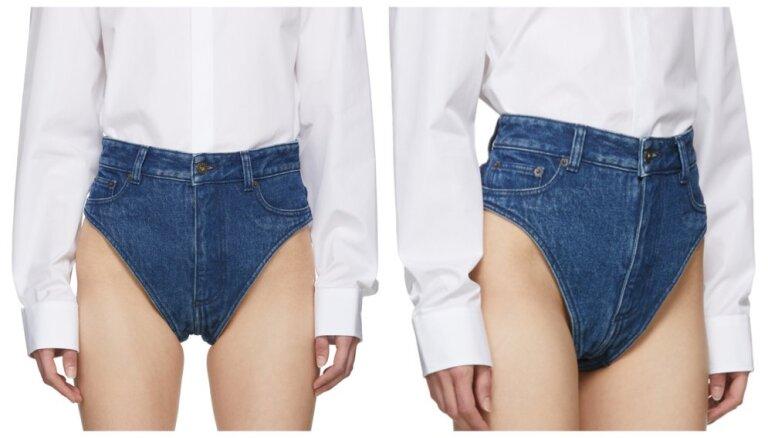 Uzmanību izpelnījies jauns stila trakums – džinsa šorti, kas atgādina apakšveļu