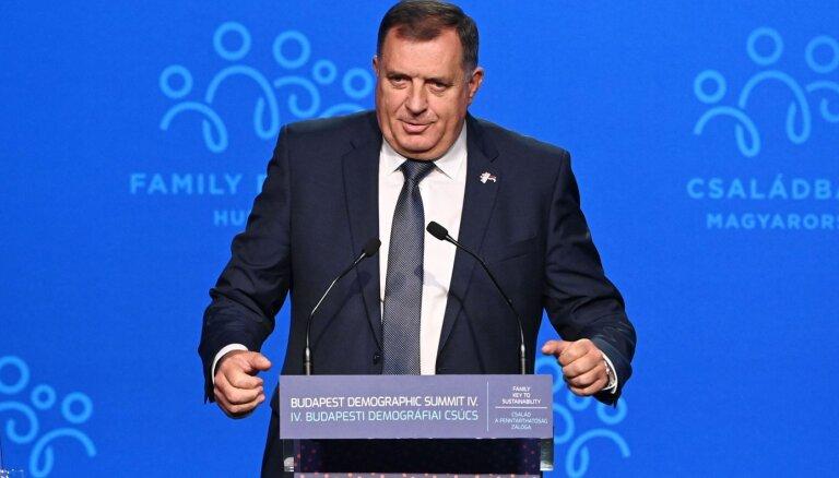 Bosnija un Hercegovina izmeklēs Dodika naidīgos izteikumus