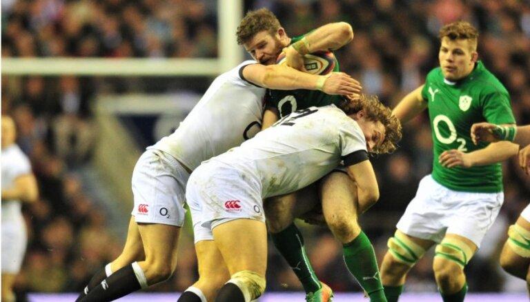 Anglija sagrauj Īrijas regbistu 'Grand Slam' sapni