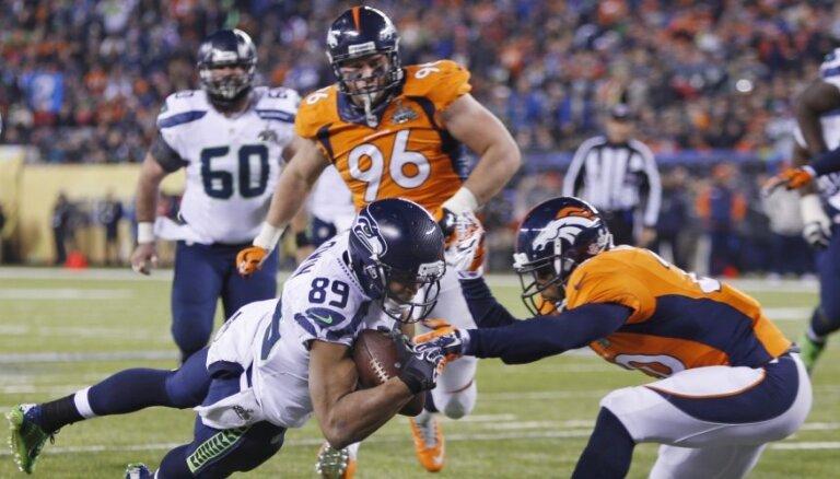 'Super Bowl' titulu amerikāņu futbolā pirmo reizi izcīna Sietlas 'Seahawks'