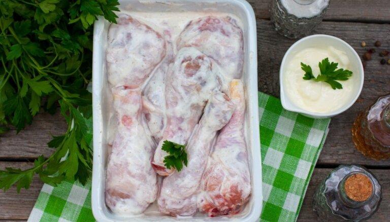 Курица в кефирном маринаде