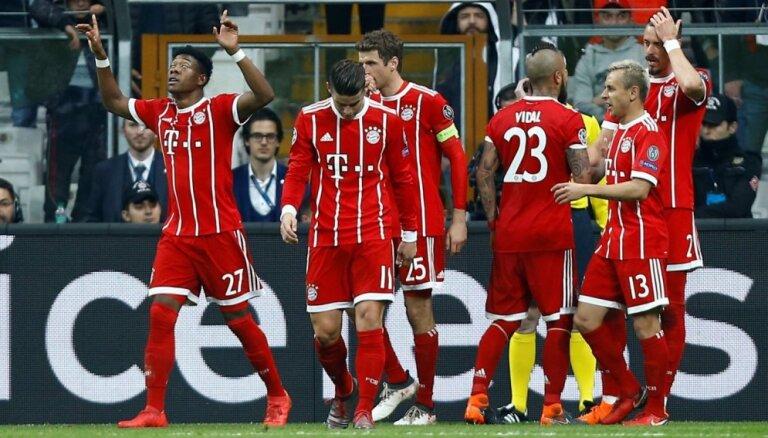 'Bayern' septīto gadu pēc kārtas iekļūst UEFA Čempionu līgas ceturtdaļfinālā