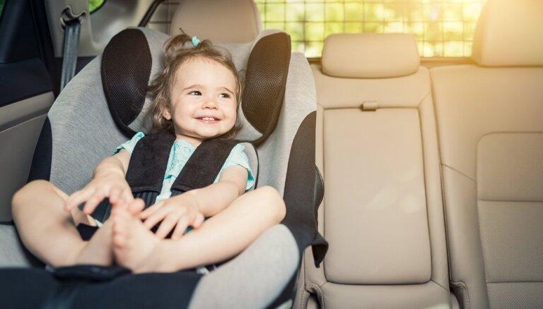 Bērni kā pasažieri automašīnā: Kas jāievēro autovadītājam?