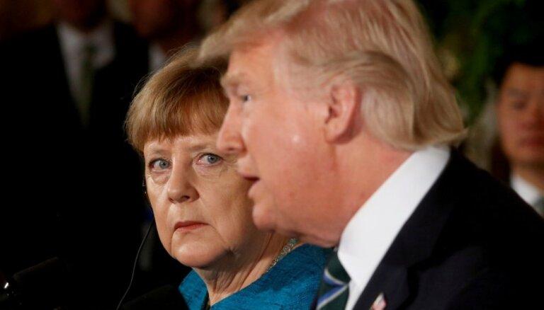 Aptauja: Gandrīz 85% vāciešu ASV-Vācijas attiecības vērtē negatīvi