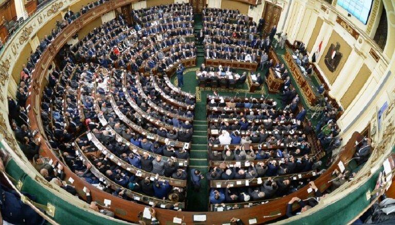 Pēc trīs gadiem uz sēdi sanāk Ēģiptes parlaments
