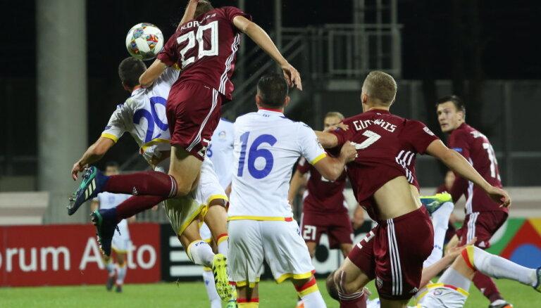Сборная Латвии не смогла обыграть Андорру в первом матче Лиги наций УЕФА