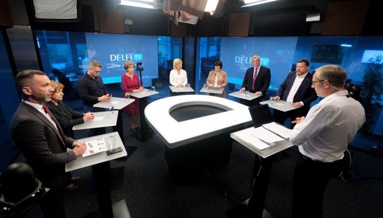 """Европа: за кого голосовать? Дебаты лидеров партий - на """"DELFI TV с Янисом Домбурсом"""""""