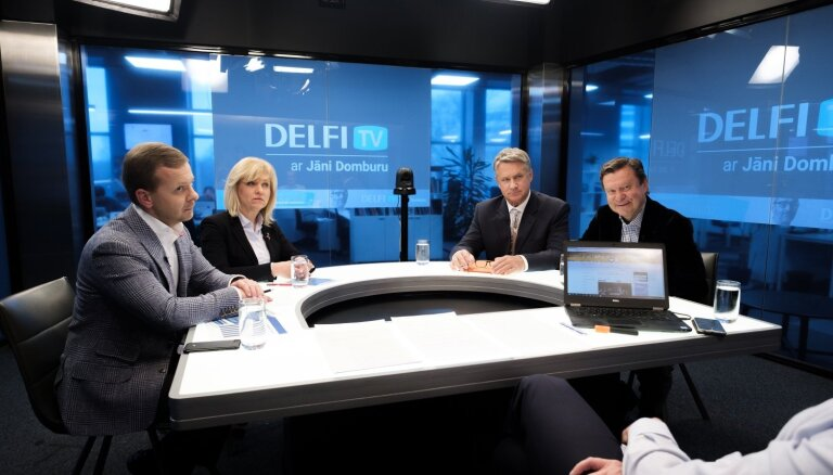 'Delfi TV ar Domburu' atbild 'Nacionālā apvienība' un 'Saskaņa'. Pilns ieraksts