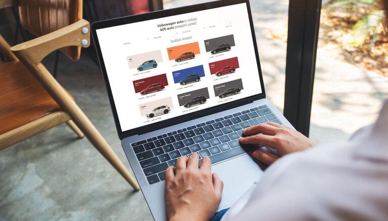 Latvijā VW un 'Audi' automašīnas tagad iespējams iegādāties arī internetā