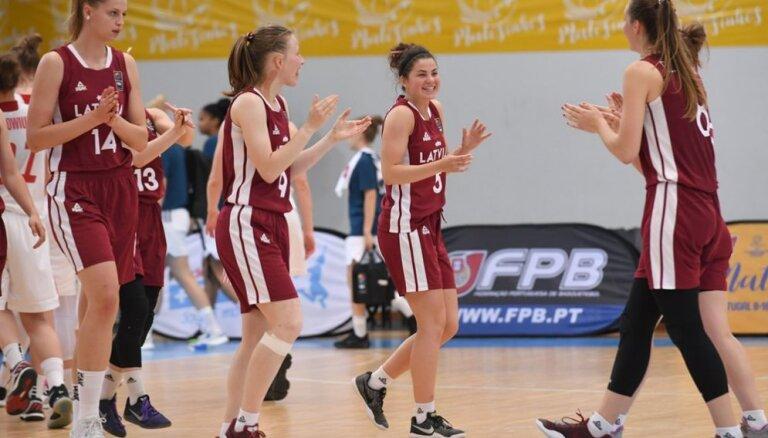 Latvijas U-20 izlases basketbolistes sagrauj Poliju un iekļūst EČ ceturtdaļfinālā