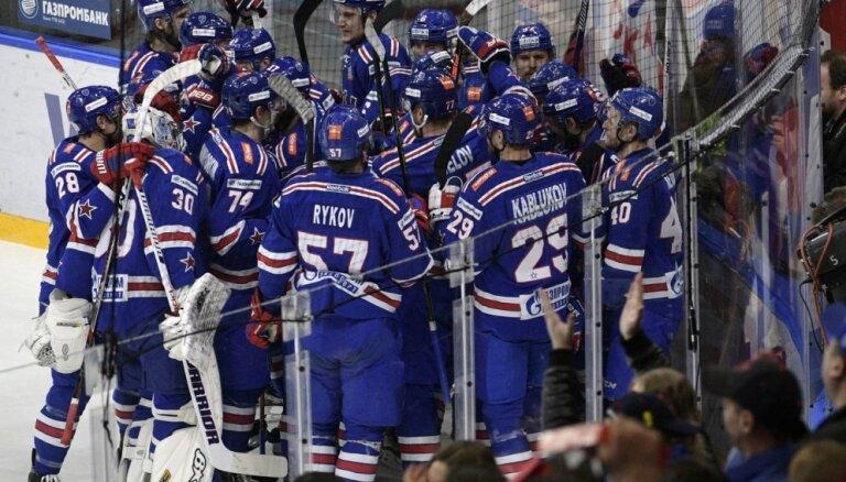Znaroka un Vītoliņa trenētā Sanktpēterburgas SKA triumfē KHL čempionātā