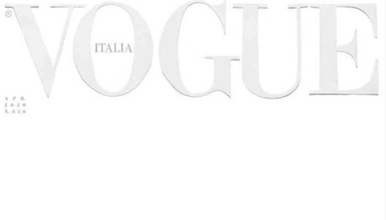 С чистого листа. Впервые в истории журнал Vogue выйдет с пустой обложкой