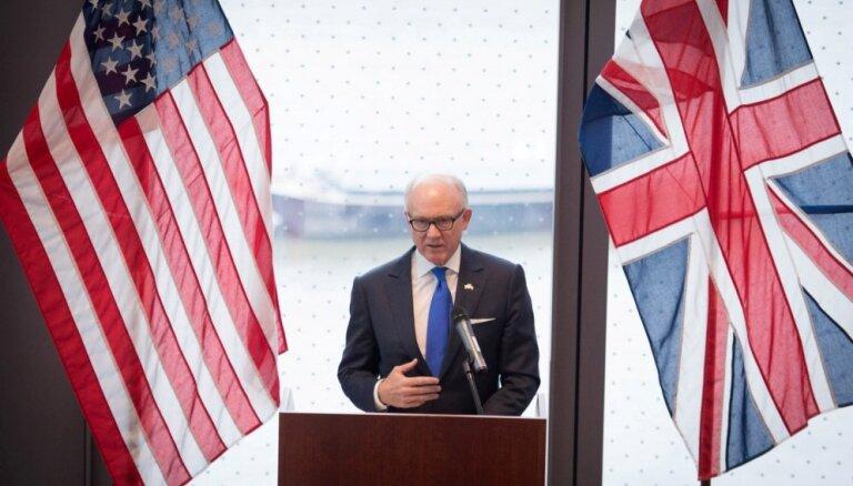ASV vēstnieks aicina Lielbritāniju neatbalstīt Irānas kodollīgumu