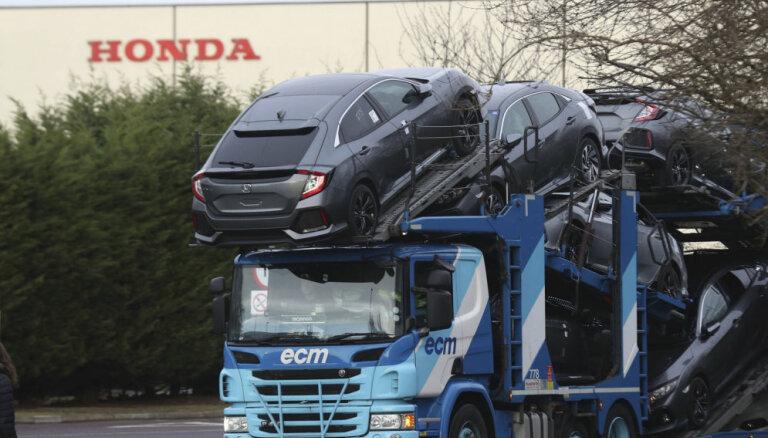 'Honda' slēgs Lielbritānijas rūpnīcu