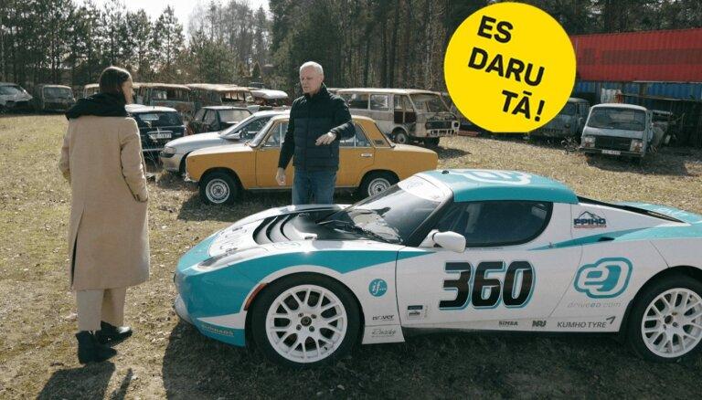 Taupīgais šoferis: autosportista Andra Dambja darbs un aizraušanās