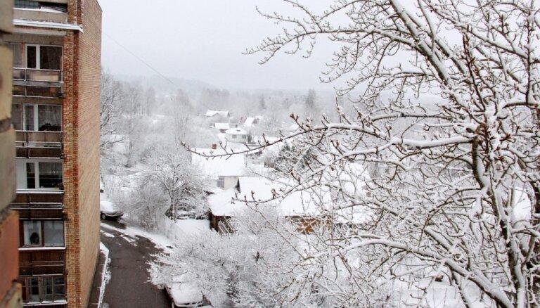Sniega dziļums Alūksnē sasniedzis 46 centimetrus