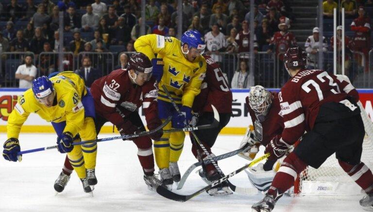 Сборная Латвии потерпела первое поражение на ЧМ в Кельне