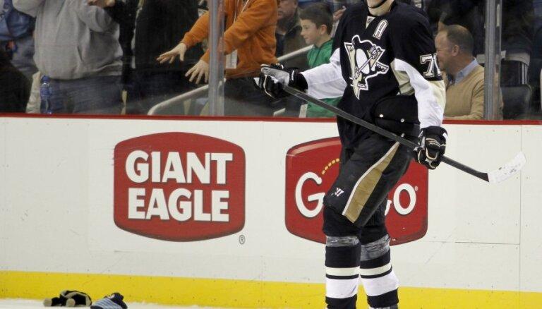 Малкин — единоличный лидер среди бомбардиров НХЛ, Даугавиньш получил травму