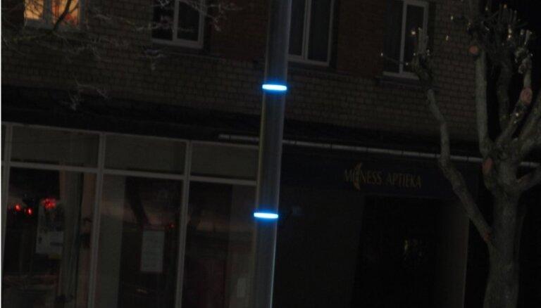 У вас в квартире газ? А у нас - столбы с LED подсветкой! (видео)