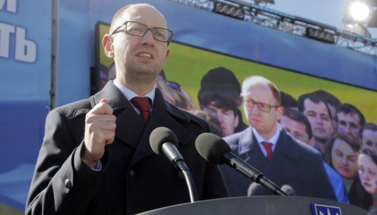 Партия Яценюка лидирует на выборах в Верховную Раду