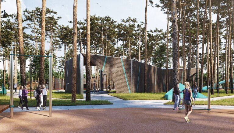 ФОТО: В Каугури начинается строительство нового парка отдыха