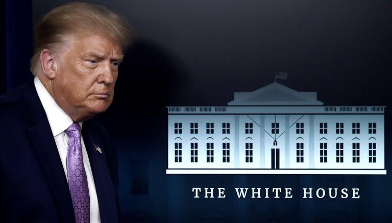 ASV prezidents Tramps pēc inficēšanās ar Covid-19 nonācis slimnīcā
