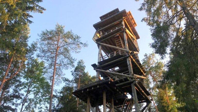 Foto: Skatu tornis Līgatnē, kur baudīt Gaujas Nacionālā parka burvību