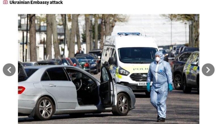 В Лондоне полицейские со стрельбой задержали водителя, который врезался в машину посла Украины