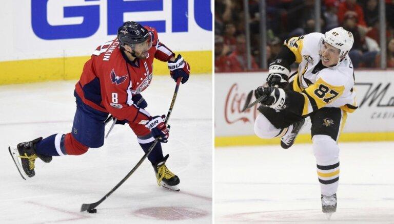 Krosbijs pret Ovečkinu: 'Penguins' uzvar 'Capitals' pirmajā 'play off' otrās kārtas spēlē
