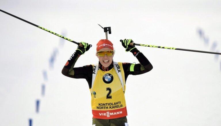 Дальмайер выиграла гонку преследования и впервые завоевала Кубок мира