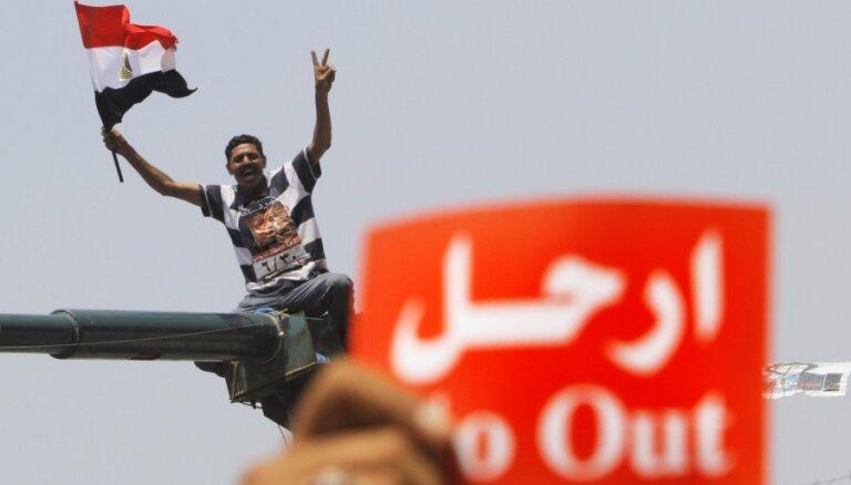Ēģiptes policijai uzdod izklīdināt Mursi atbalstītāju islāmistu demonstrācijas