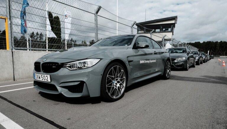 Foto: 'BMW M' diena Biķerniekos ar Latvijas izcilākajiem autosportistiem