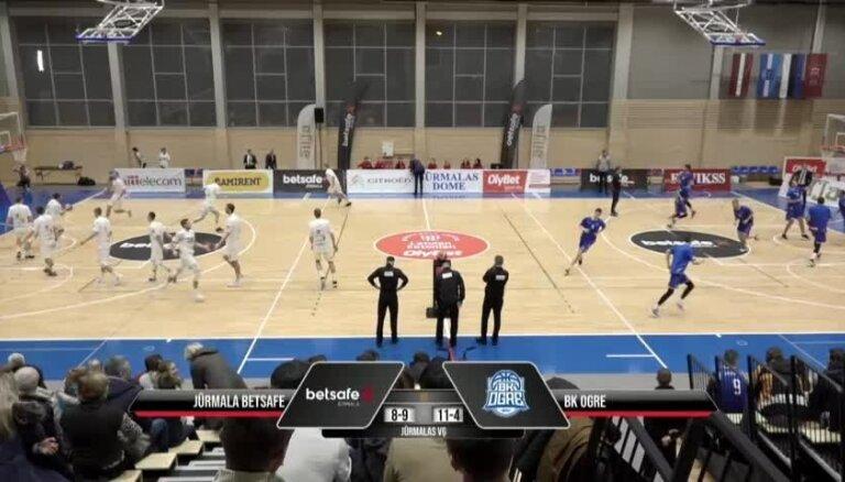 'OlyBet' basketbola līga: 'Betsafe/Jūrmala' - 'Ogre'. Pilns ieraksts