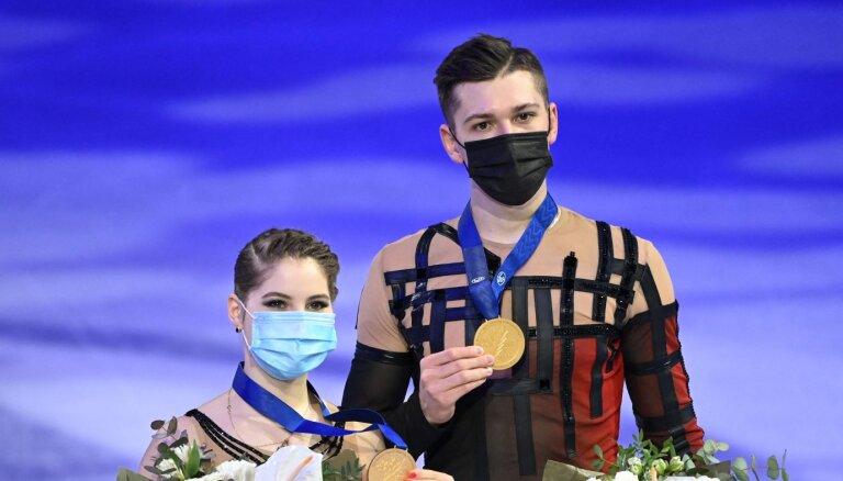 Россия взяла золото в соревнованиях спортивных пар, Васильев стал ближе к олимпийской путевке