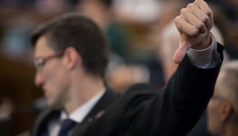Deputāti aizvada 12. Saeimas pēdējo sēdi pirms vēlēšanām. Teksta tiešraides arhīvs