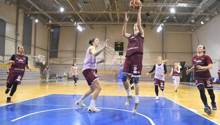 Latvijas basketbolistes pārbaudes mačā tiekas ar Čehiju