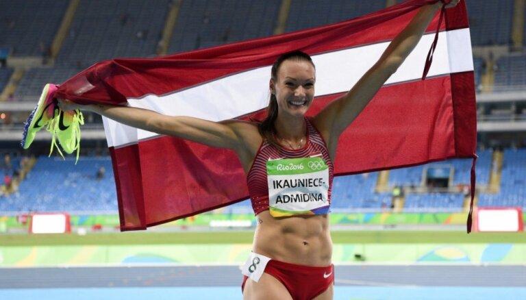 Ikauniece-Admidiņa paliek uzreiz aiz goda pjedestāla Rio olimpiskajās spēlēs