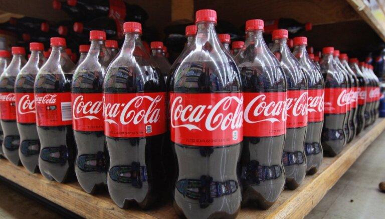 Pagājušajā gadā patērētāji par 'Coca-Cola' produktiem samaksājuši 65 miljonus eiro