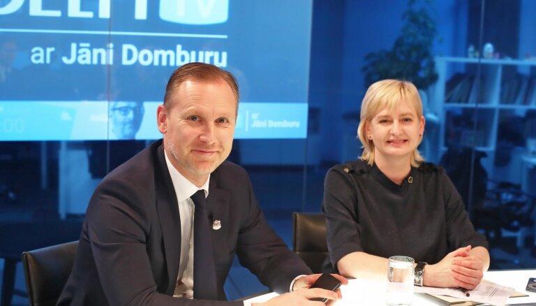 'Delfi TV ar Jāni Domburu': atbild Bordāna valdības partijas