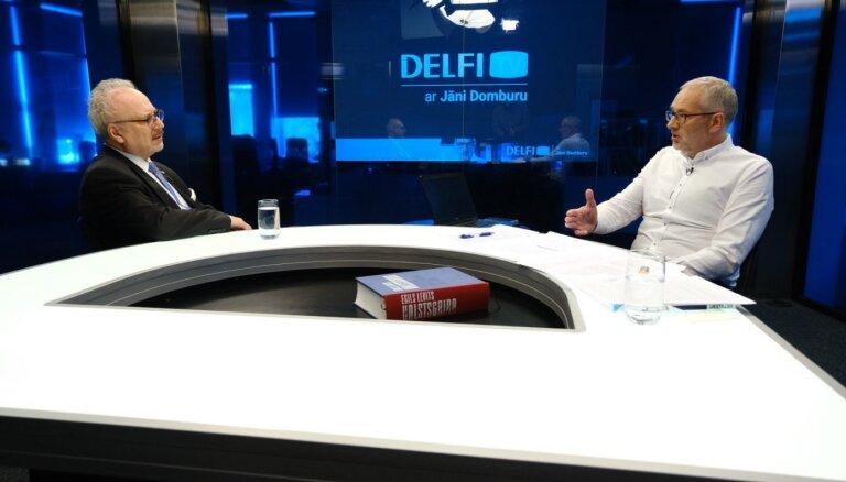 'Delfi TV ar Jāni Domburu' atbild Egils Levits: divi gadi Valsts prezidenta amatā. Pilns ieraksts
