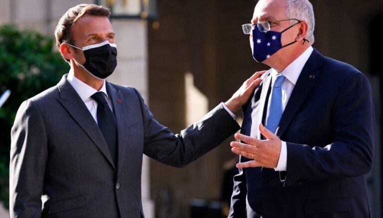 AUKUS sāga: Francijas un Austrālijas līderi sarunas vēl nav aizvadījuši