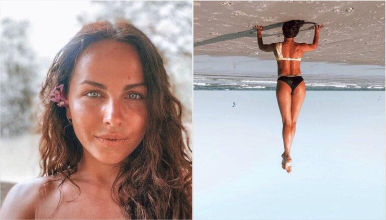 Taizemē 'iestrēgusī' Lelde Dreimane priecē ar krāšņu pludmales foto