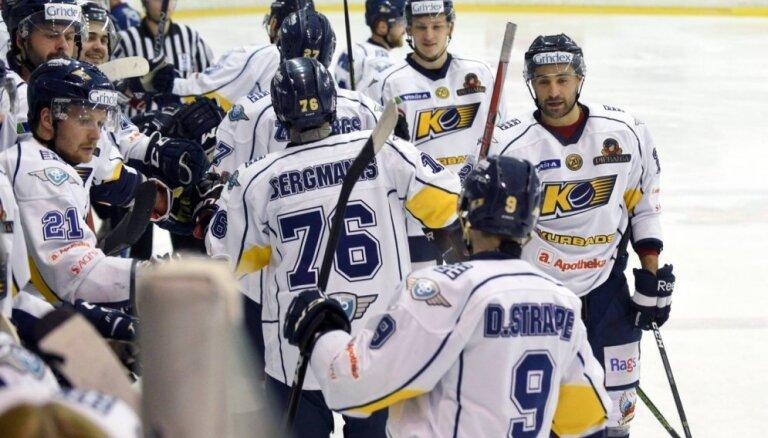 'Kurbada' hokejisti virslīgas mačā pārliecinoši uzvar čempioni 'Liepāju'