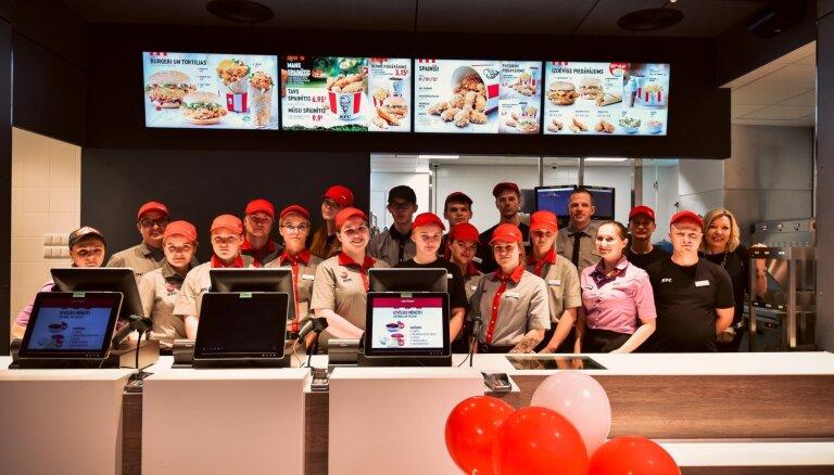 'Akropolē' atver jauna koncepta KFC restorānu, nodrošinot 250 jaunas darbavietas