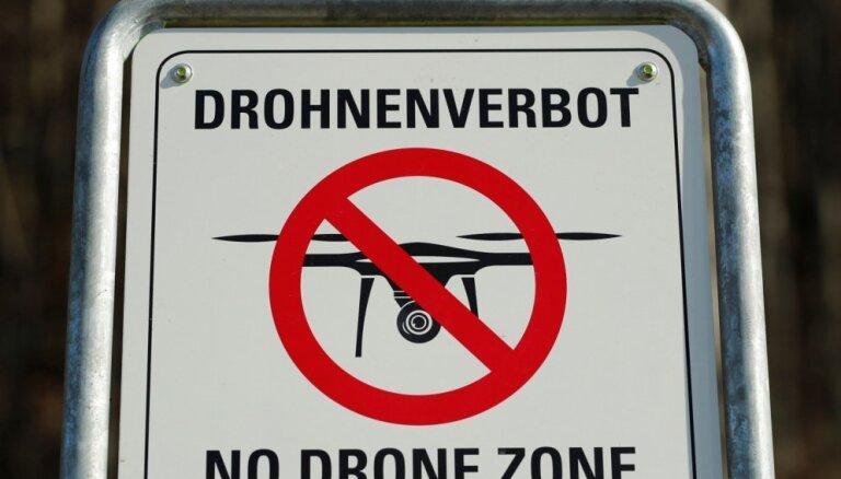 Vācijas policija brīdina par lidostu neaizsargātību pret droniem