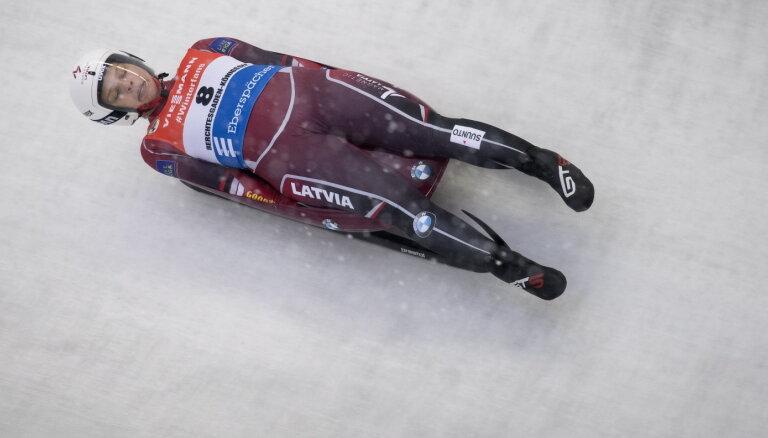 Aparjode un Tīruma noslēdz labāko devītnieku pasaules čempionātā kamaniņu sportā