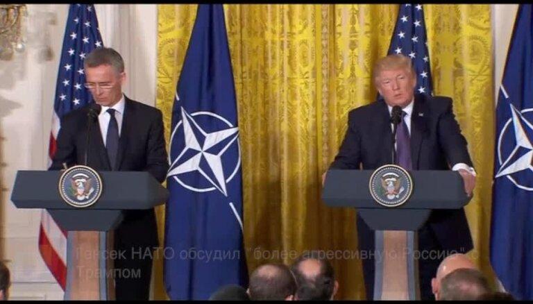 """Генсек НАТО обсудил """"более агрессивную Россию"""" с Трампом"""
